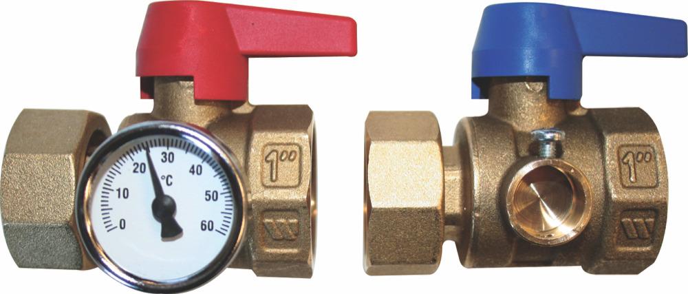 Underfloor Heating Isolation Valves Pair