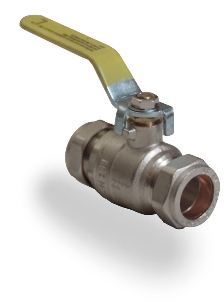 Copper To Copper Yellow Lever Ball Valve Gas