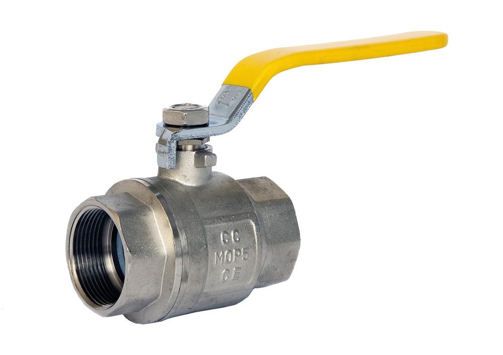Yellow F/F Lever Ball Valve Gas