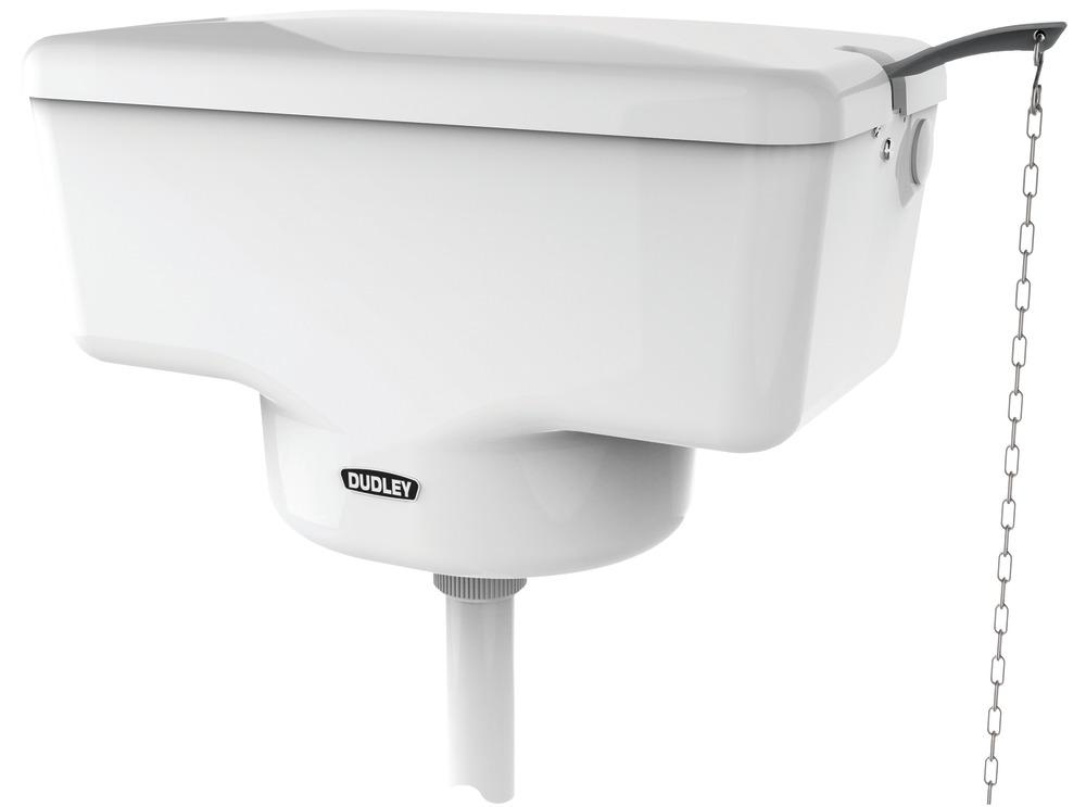 Dudley Triwell Plastic Cistern High Level Sq10009