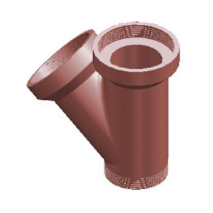Traditional Salt Glaze Drain Junction Single Obl