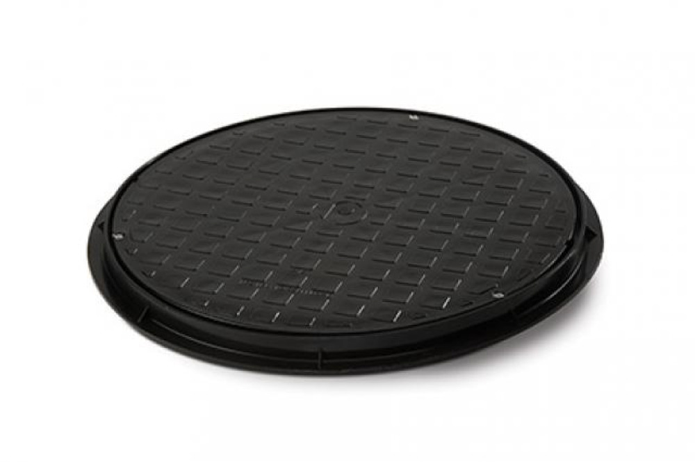 Polypipe UG511 Round Poly Cover & Frame 110mm