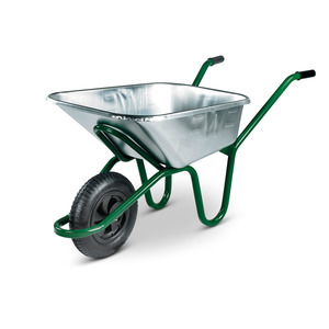 Invincible Galvanised Wheelbarrow Pneu