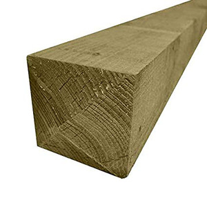 100x100mm 2.4M Treated Fence Posts Green