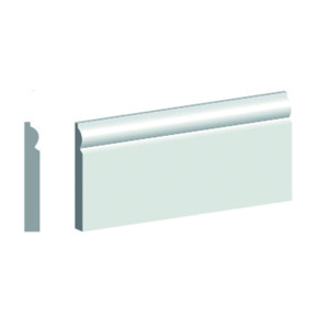 4.4M Length 18mm X 68mm MDF Torus Architrave