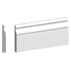 4.4M Length 18mm X 144mm MDF Ogee Skirting