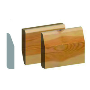 Chamfer And Round Rev Skirting