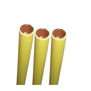 15mm X 3M Yellow PVC Copper Tube Table X Per M