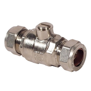 H&B 15mm Chrome Plate Copper TO Copper Ballflow Valve