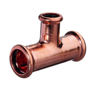 Mpress Copper Reducer Branch Tee