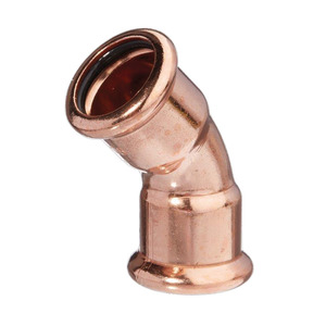 15mm MP21 Mpress Copper Bend 45DG F/F