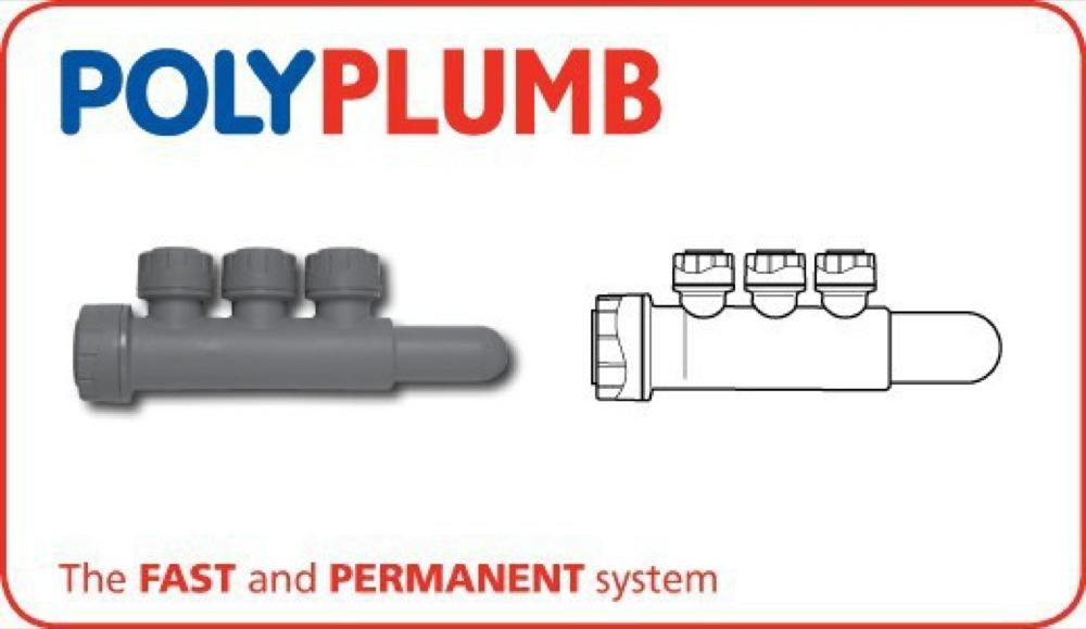 Polyplumb PB7622153 22mm 3 Port Manifold S/SP
