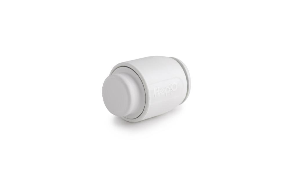 HEP2O Demountable HD62W 22mm Stop End White