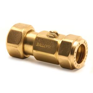 Ballofix Brass Straight Swivel