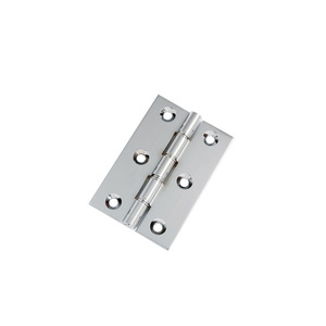 Satin Chrome Hinge Pair