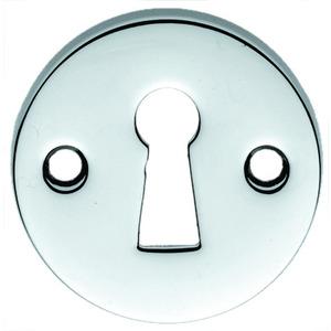 Polished Chrome Open Keyhole Escutcheon