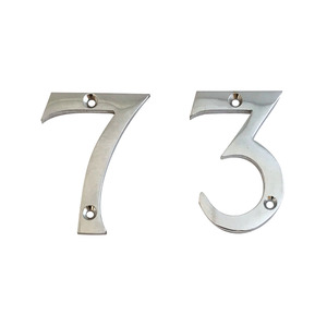 Polished Chrome Numeral