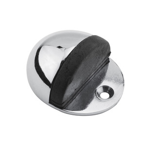 Satin Chrome Shielded Oval Door Stop