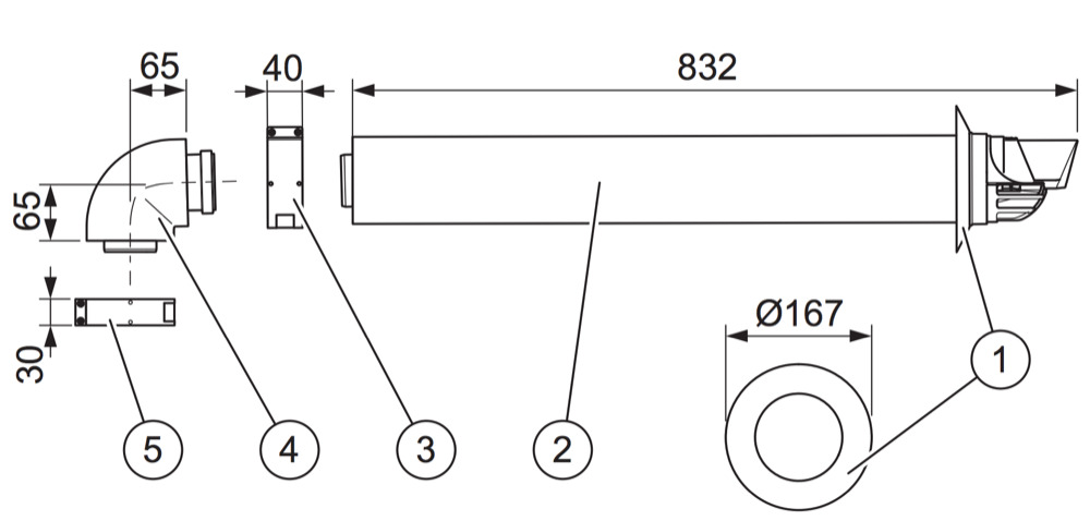 Vaillant Standard Flue Kit