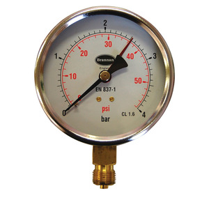 Brannan 34655 100mm 10B/150PSI Pressure Gauge