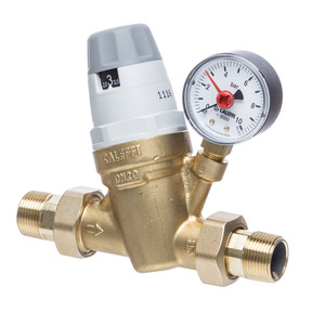 Altecnic Dial-Up Pressure Reducing Valve Plus Gauge