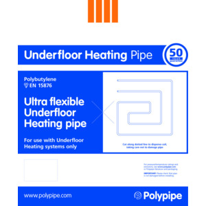 Underfloor Heating 15mm Flex Pipe 100M Coil UFH10015B