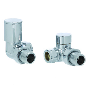 Pack 15mm Modern Corner Valves Polished Chrome