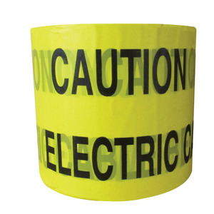 Caution Tape Electric Cable Below