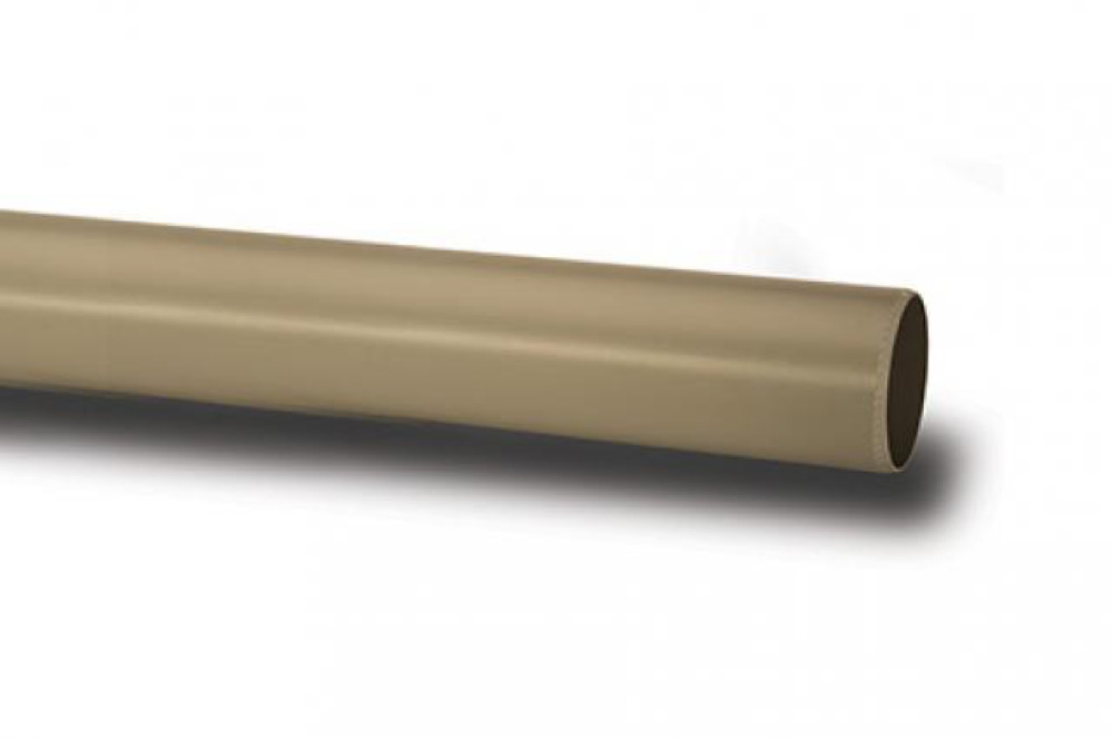 Polypipe P430SG Solvent Grey 3M Plain End Pipe 110mm Soil