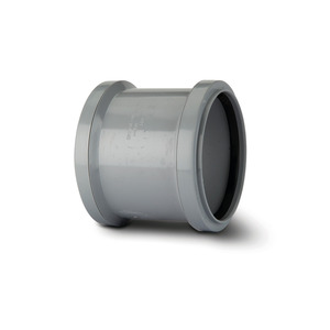 Polypipe SH44 Grey Double Socket 110mm Soil