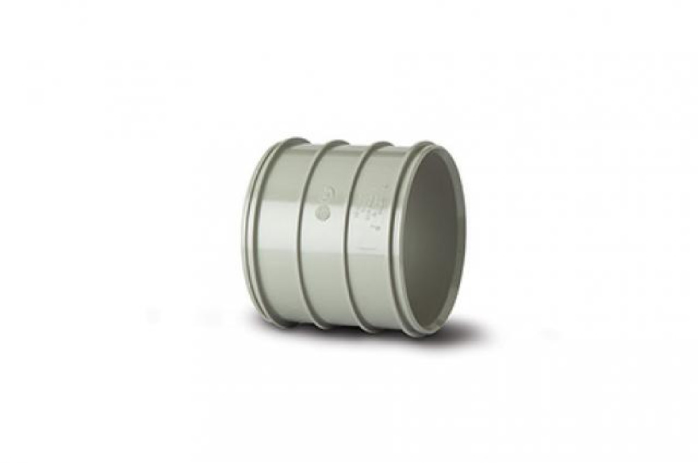 Polypipe SWH49SG Solvent Grey Double Solvent Weld Socket 82mm Soil