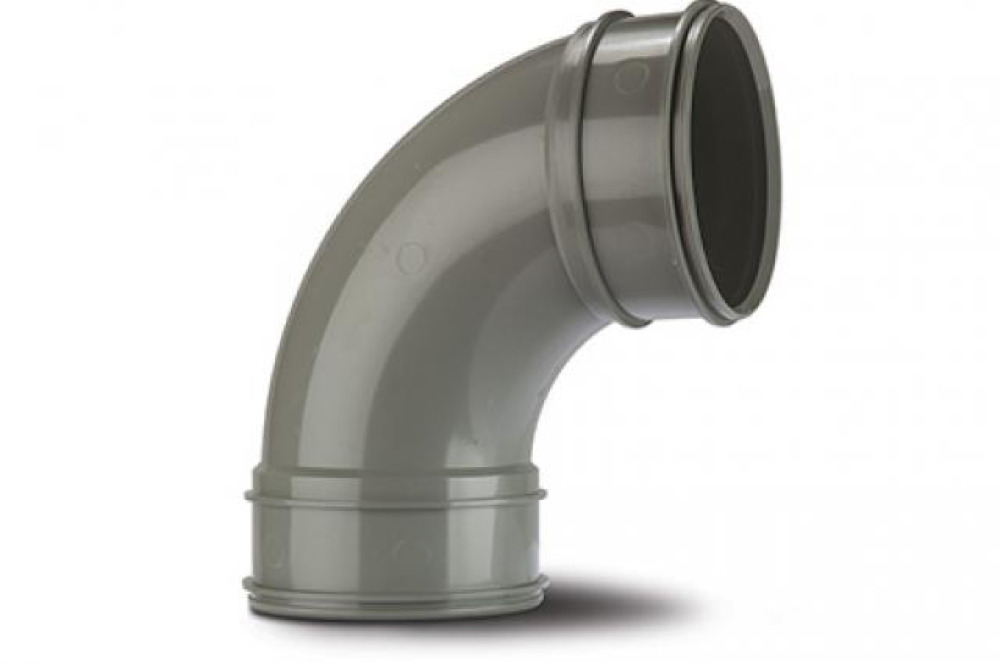 Polypipe SWB71SG Solvent Grey Bend 92.5DG 82mm Soil