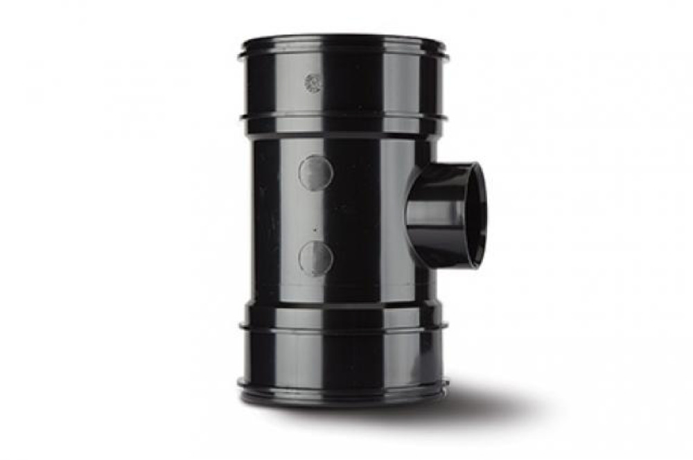 Polypipe BP424B Black B/Pipe Double Socket 110x50mm Soil