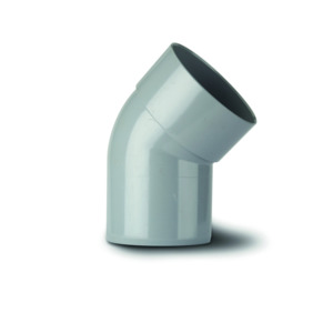 Polypipe SB404SG Solvent Grey Bend 135DG Single Socketed 110mm Soil
