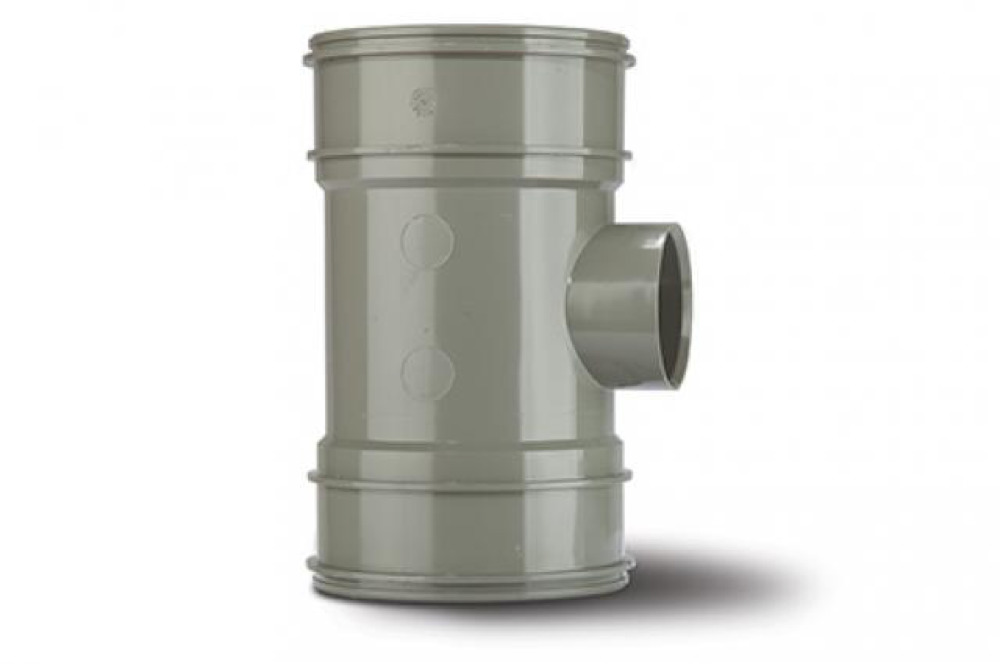 Polypipe BP424SG Solvent Grey B/Pipe Double Socket 110x50mm Soil