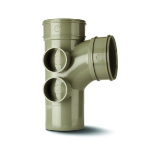Polypipe Branch Double Socket Soil