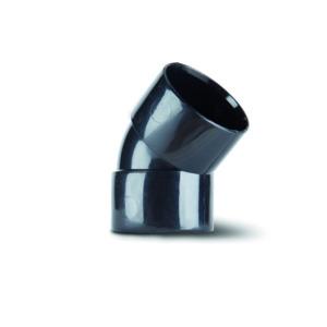 Polypipe WS18B Black Obtuse Bend 45DG 40mm Weld