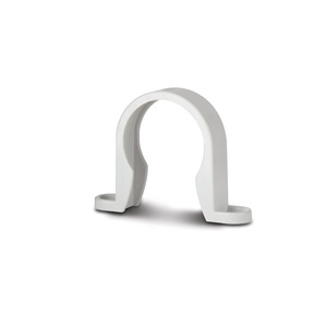 Polypipe WS34W White Pipe Bracket 40mm Weld
