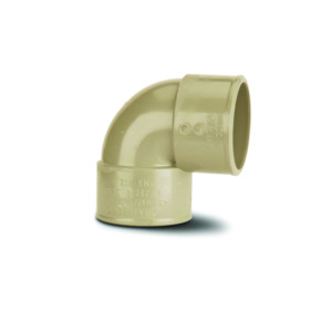 Polypipe MU212 Solvent Grey Knuckle Bend 90DG 40mm Mupvc