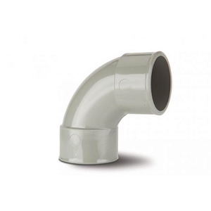 Polypipe MU214 Solvent Grey Swept Bend 92DG 40mm Mupvc