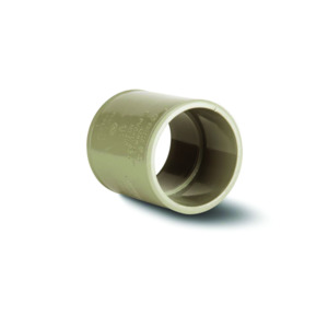 Polypipe MU310 Solvent Grey Straight Connector 50mm Mupvc