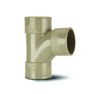 Polypipe MU316 Solvent Grey Swept Tee 92DG 50mm Mupvc