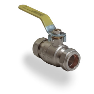 15mm Copper TO Copper Yellow Lever Ball Valve Gas