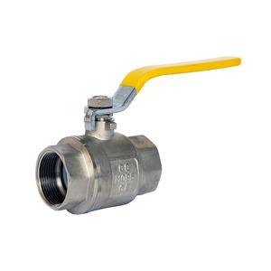 Yellow Lever Ball Valve Gas