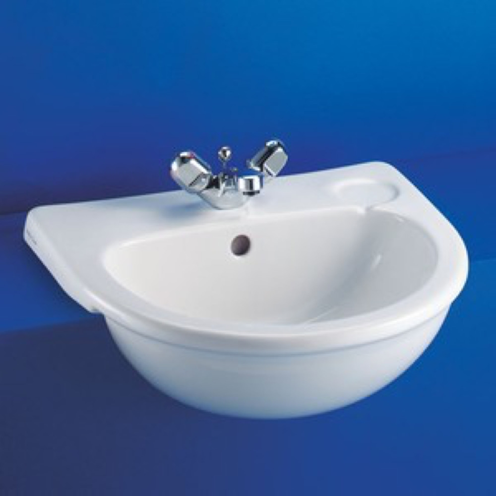 Sandringham Semi Recessed Basin No Chainstay