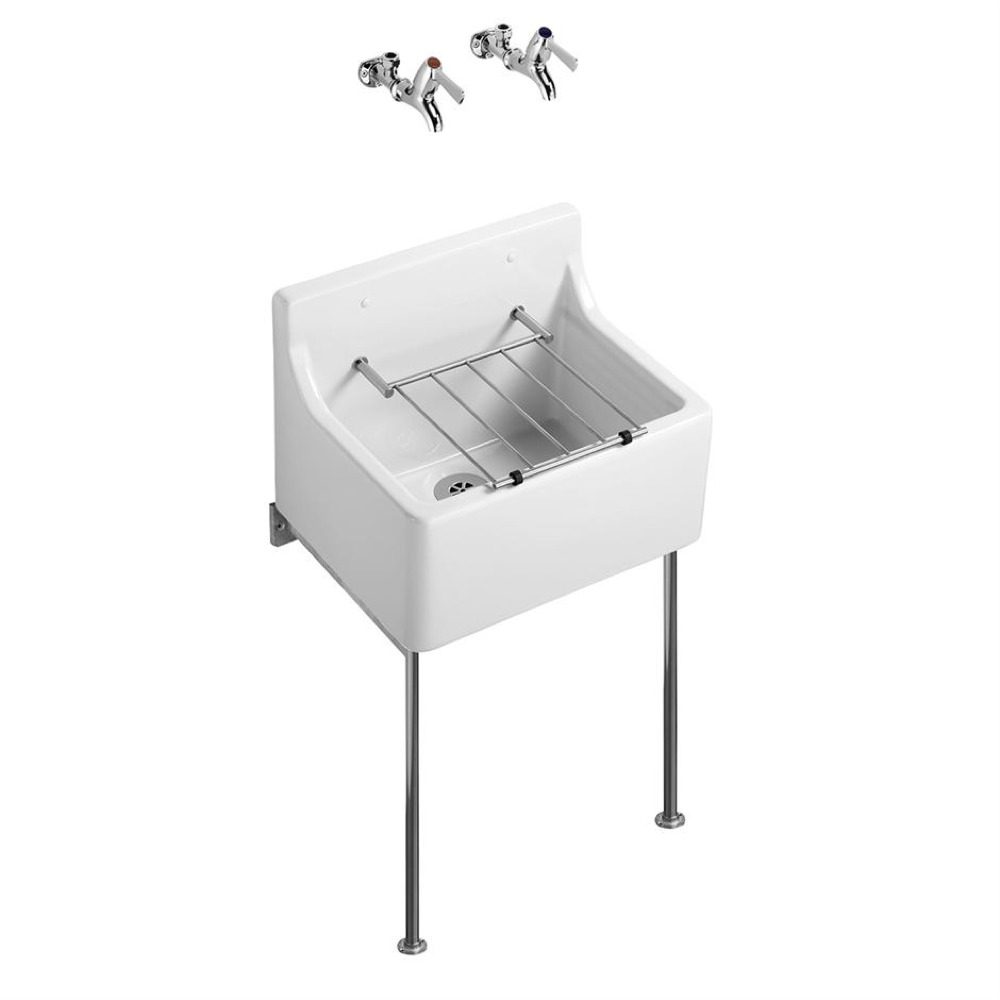Birch 455X380 Cleaners Sink S591501 White