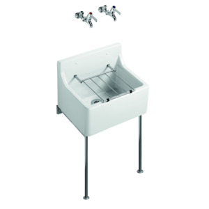 Birch 510X380 Cleaners Sink S592001 White