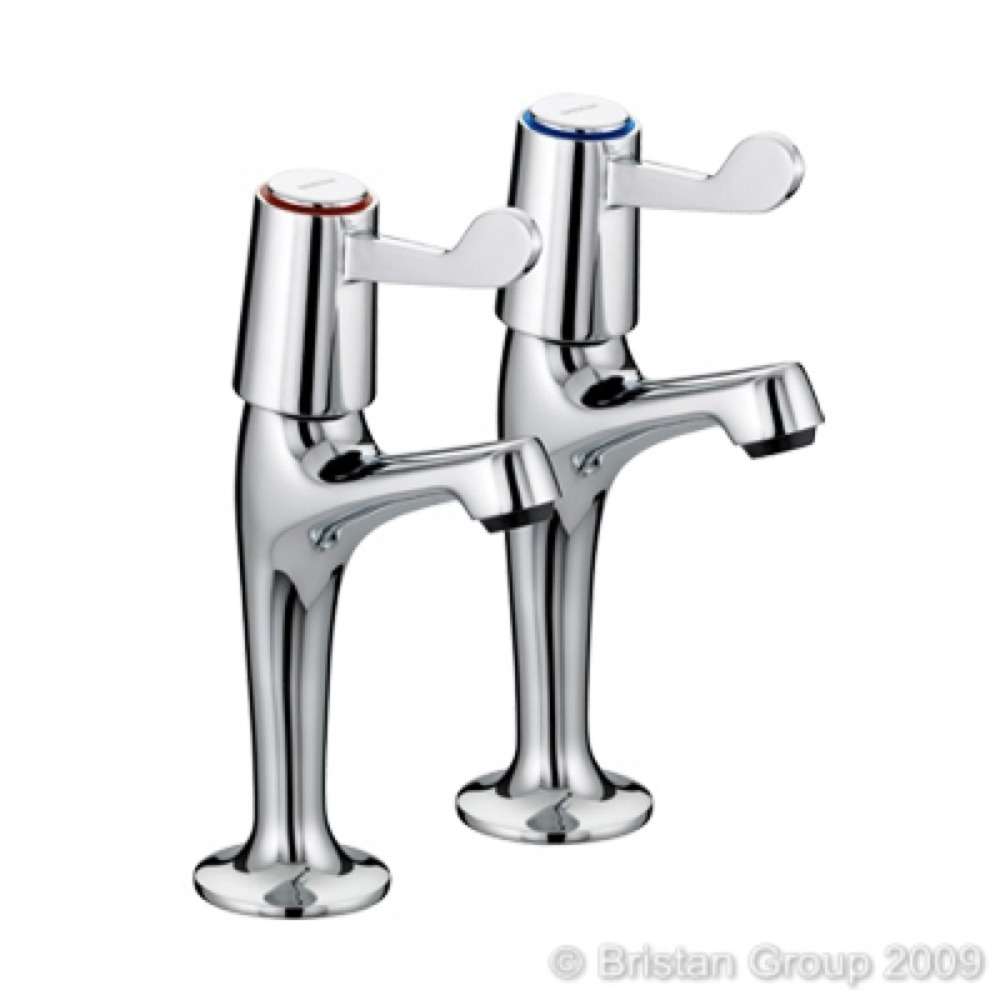 Lever Sink Taps Chrome Pair
