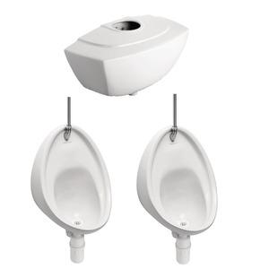 Sanura Exposed Urinal & Cistern Pack