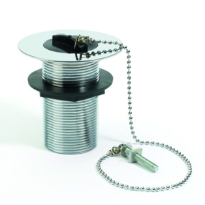 Unslotted Sink Waste Plug And Chain
